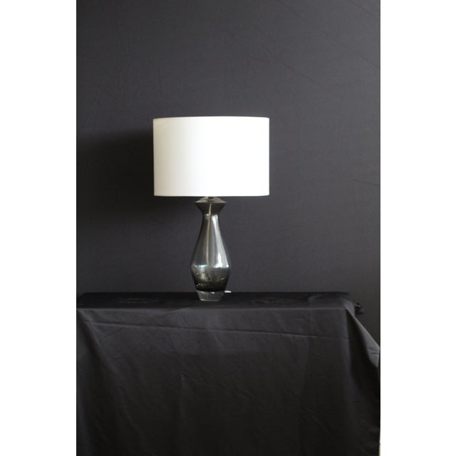 Art Glass Sculptural Art Glass Table Lamp For Sale - Image 7 of 7