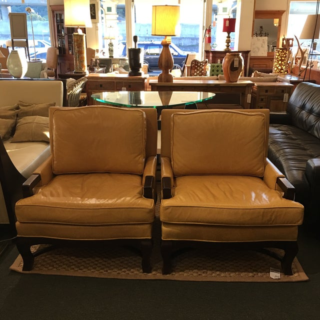 Kellex Leather Arm Chairs - A Pair - Image 2 of 7