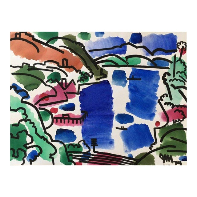 Landscape Watercolor by James McCray #10 For Sale