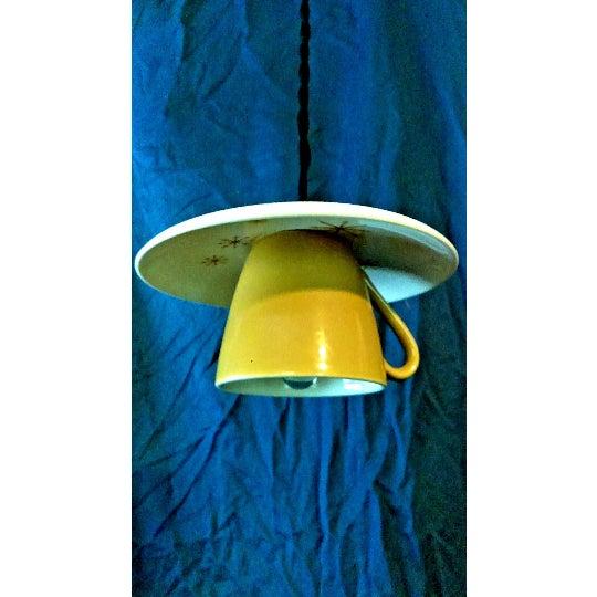 Star Glow 'Atomic' Tea Cup & Saucer Pendant Light - Image 2 of 3