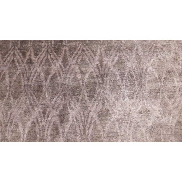 """Modern Modern Hand-Knotted Bamboo Silk Rug - 9'3"""" X 11'6"""" For Sale - Image 3 of 5"""