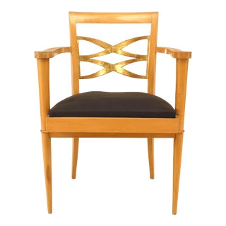 French Sycamore Arm Chair For Sale