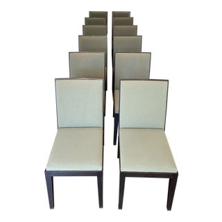 Jean-Michel Frank & Adolphe Chanaux for Ecart International Dining Chairs- Set of 12 For Sale