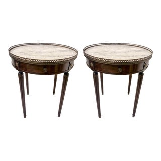 French Style Marble and Bronze Tables, a Pair For Sale