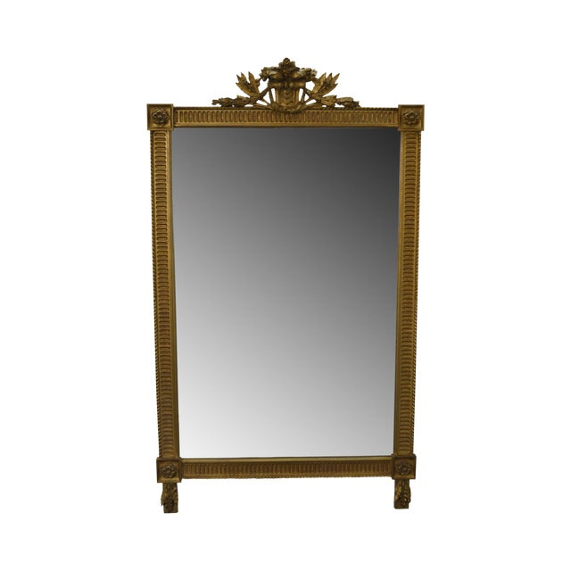 Carvers Guild French Louis XV Style Gilt Frame Beveled Wall Mirror For Sale