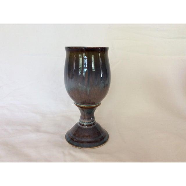 Blue & Purple Glazed Goblets - Set of 4 For Sale - Image 5 of 5