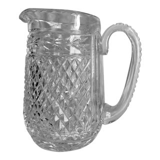 """Retro Waterford """"Glandore"""" Pattern Cut Crystal Martini Pitcher/Water Jug For Sale"""