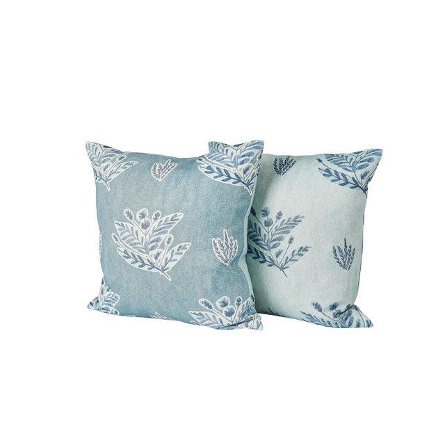 Ferrick Mason Custom Emily Blue Knife Edge Pillows - a Pair For Sale In Lexington, KY - Image 6 of 6
