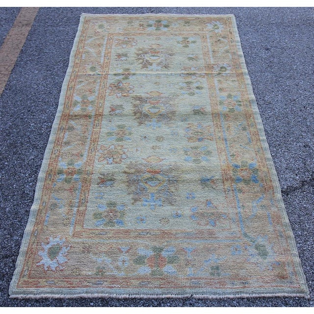 New Oushak Turkish Rug With Soft Colors - 3'5 X 6'6 - Image 2 of 5
