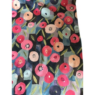 """Contemporary Jessica Charles Fabric """"Dilly"""" Multi - 3 Yards For Sale"""