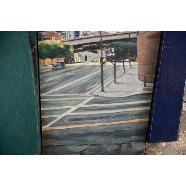 """Bonaventura Hotel Downtown LA"" Original Oil Painting by Steve Metzger For Sale - Image 5 of 9"