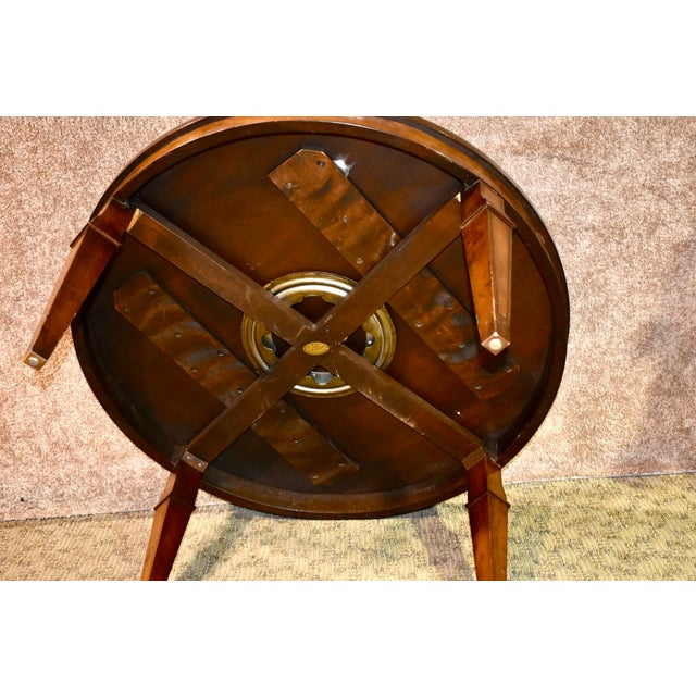 Vintage Old Colony Regency Style Inlaid Lazy Susan Cocktail Table For Sale - Image 10 of 13