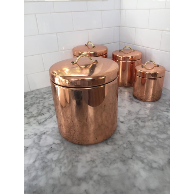 Vintage Nesting Copper Canisters - Set of 4 - Image 3 of 5