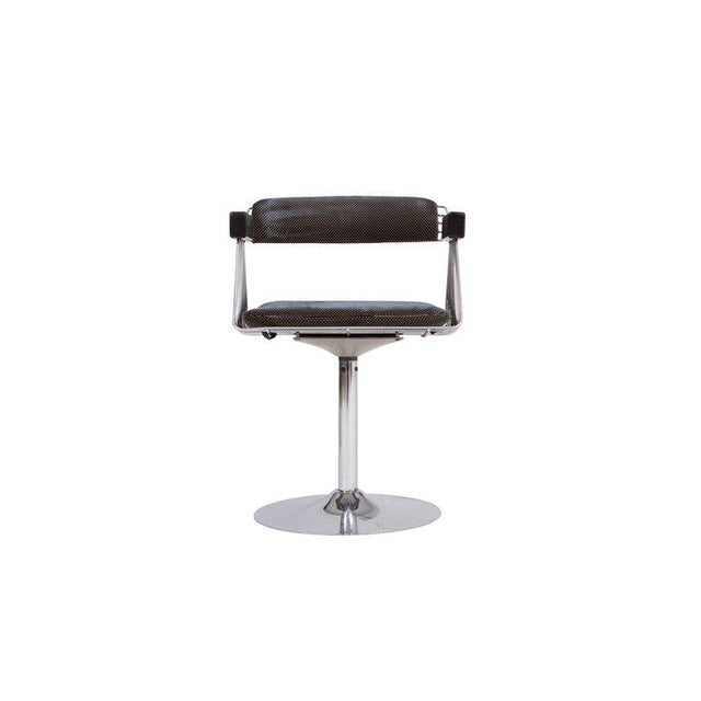 Chrome Rudi Verelst Space Age Swivel Armchairs in Chromed Steel For Sale - Image 7 of 12