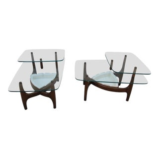 1960s Mid-Century Modern Adrian Pearsall Style Biomorphic Side Tables - a Pair For Sale