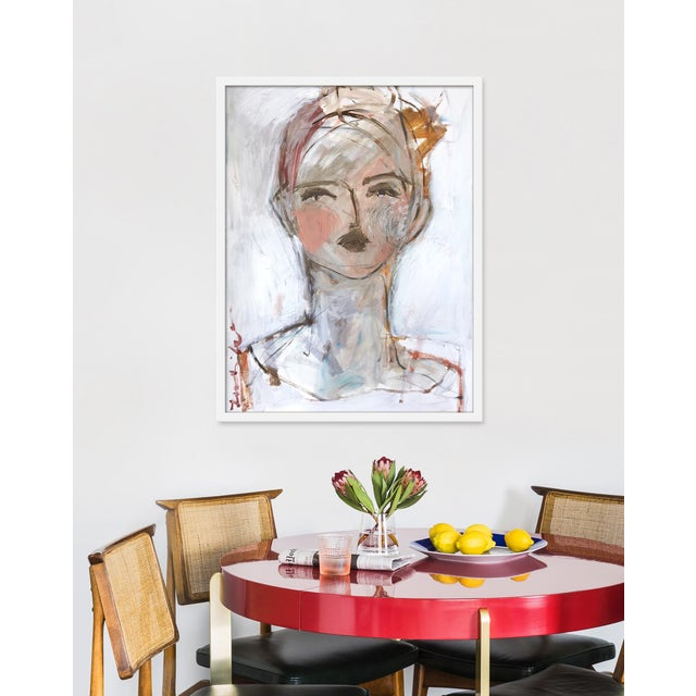 Giclée on textured fine art paper with white frame. Unframed print dimensions: 23.75x30.75. Leslie Weaver is a mixed media...