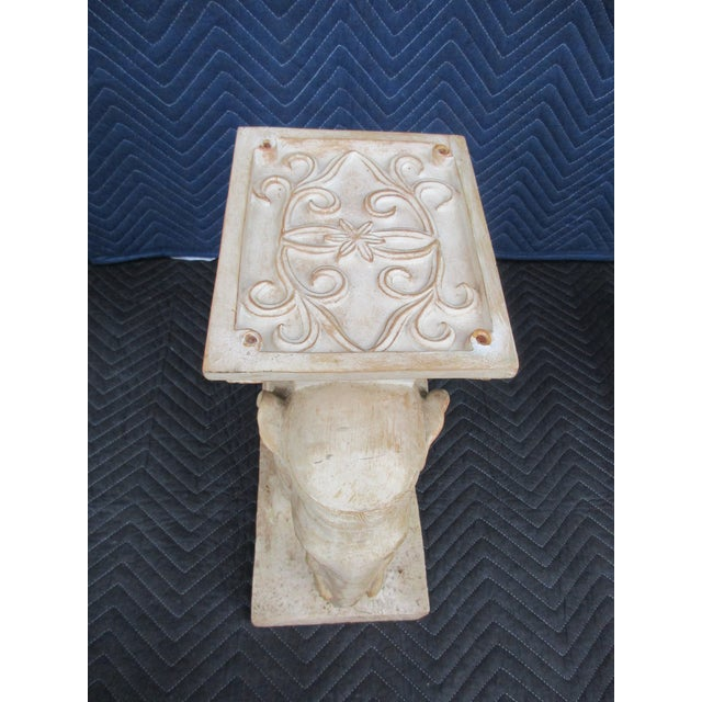 20th Century Boho Chic Elephant Pedestals - a Pair For Sale - Image 12 of 13