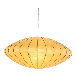 Mid-Century Modern Saucer Cocoon Pendant Lamp by George Nelson, 1960s For Sale