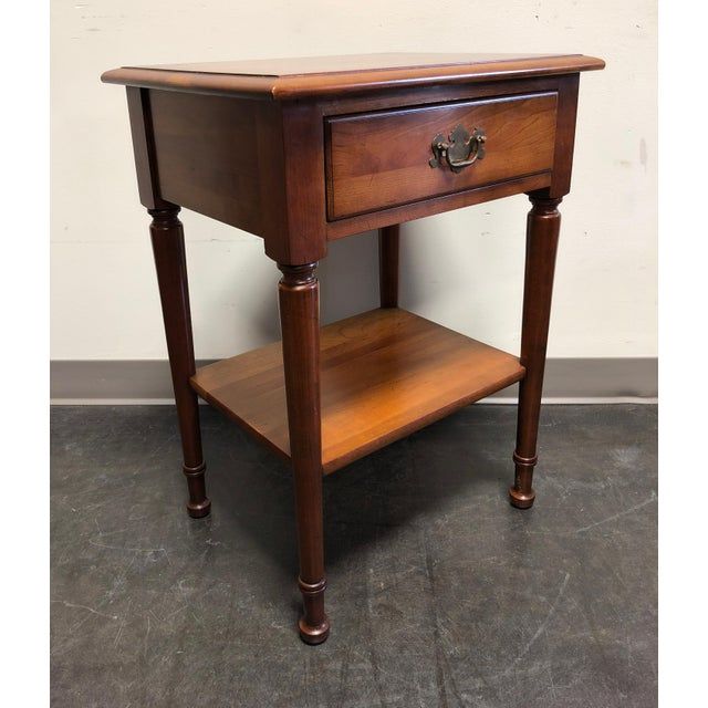 Chippendale Solid Cherry Chippendale Nightstand by Cherry Hill Collection For Sale - Image 3 of 12
