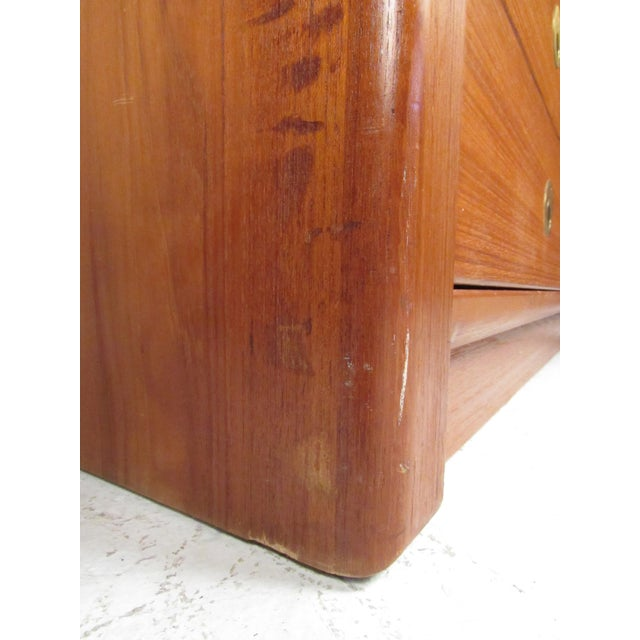 Mid-Century Modern Teak Gentleman's Chest For Sale - Image 10 of 11