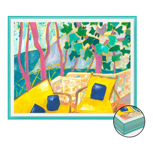 Porto Ercole 3 by Lulu DK in Turquoise Acrylic Shadowbox, Medium Art Print For Sale