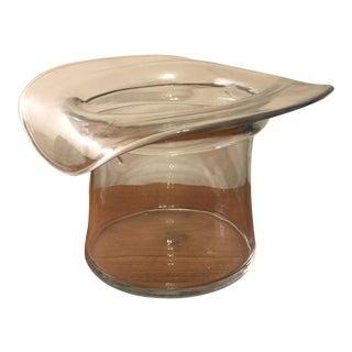 Crystal Blenko Hat Ice Bucket For Sale