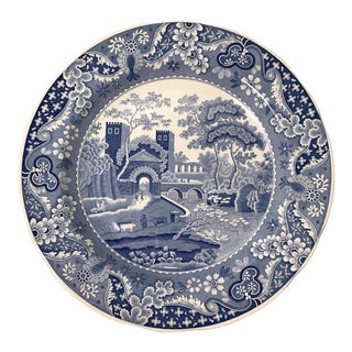 English Spode Transferware Plate For Sale