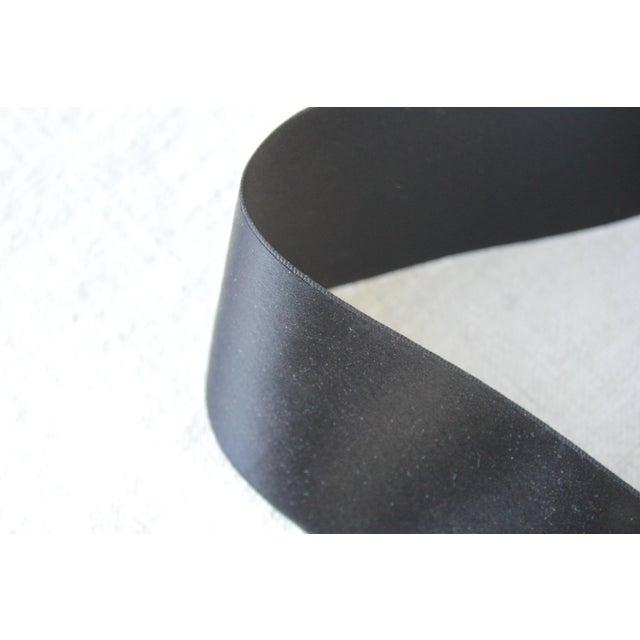 Black Vintage Black Hat Ribbon Or Trim - 2 Inches Wide For Sale - Image 8 of 8