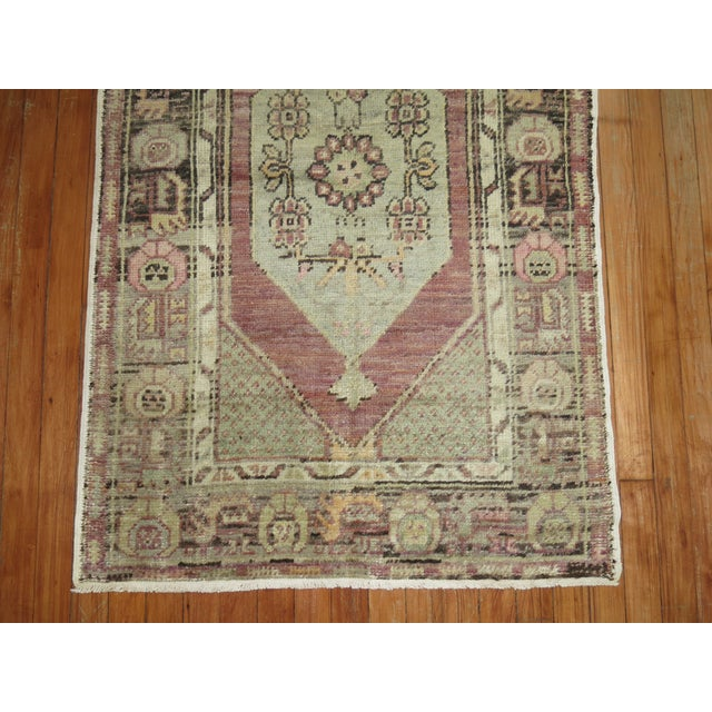 Rustic Lavender Turkish Oushak, 2'10'' X 4'4'' For Sale - Image 3 of 6