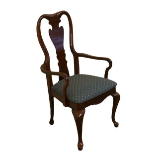 Late 20th Century Vintage Thomasville Furniture Collectors Cherry Arm Chair For Sale