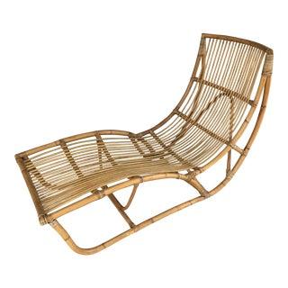 Franco Albini Bamboo Chaise Longue For Sale