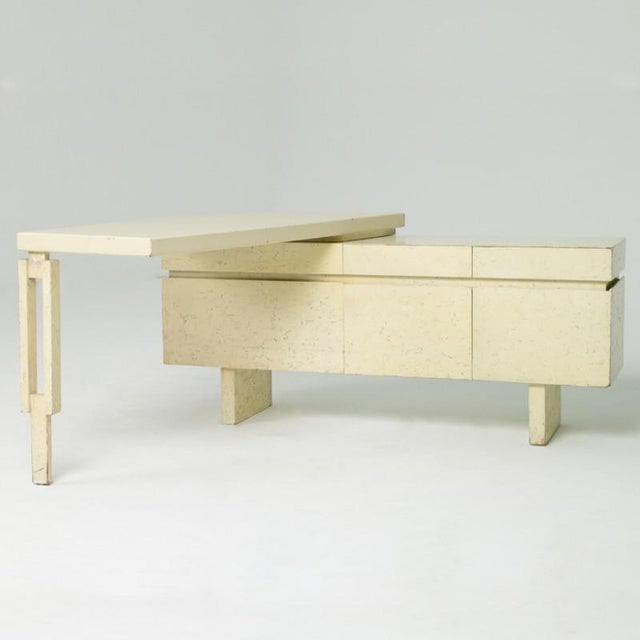 "Modern 1960s USA William ""Billy"" Haines Custom L-Shaped Desk For Sale - Image 3 of 3"