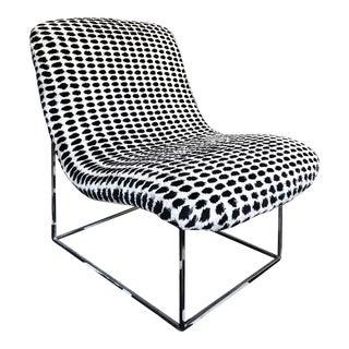 Milo Baughman for Thayer Coggin Mod Lounge Chair W/ Chrome Frame For Sale
