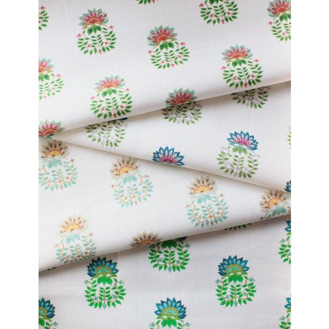 Ferran Gazania Fabric, 2 Yards, Jade in Linen/Cotton For Sale - Image 4 of 5