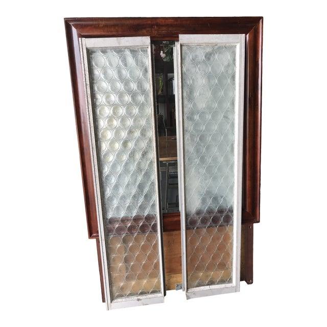 Vintage Bottle Glass Windows-A Pair For Sale