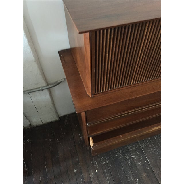 Mid Century Walnut Tall-Boy Chest - Image 7 of 9