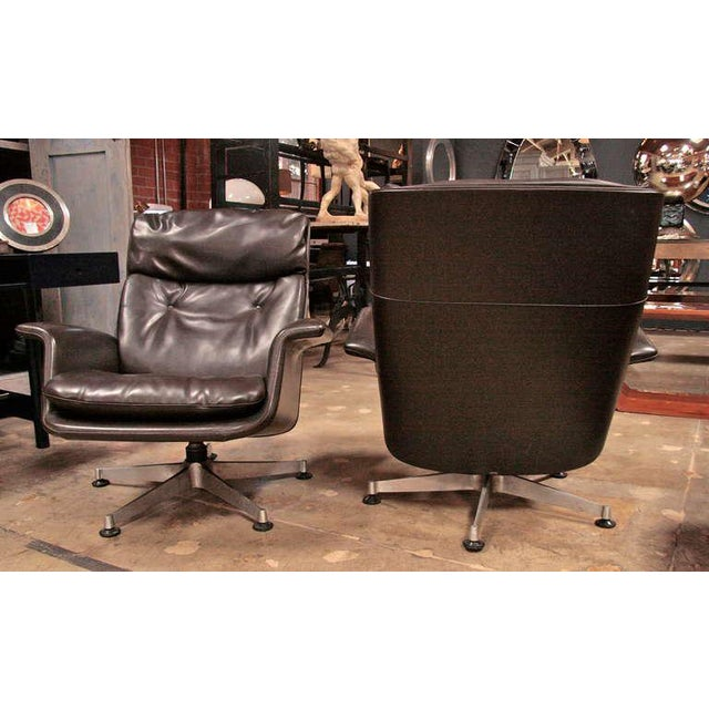 Italian 1970 Swivel Armchairs by Anonima Castelli For Sale - Image 5 of 11