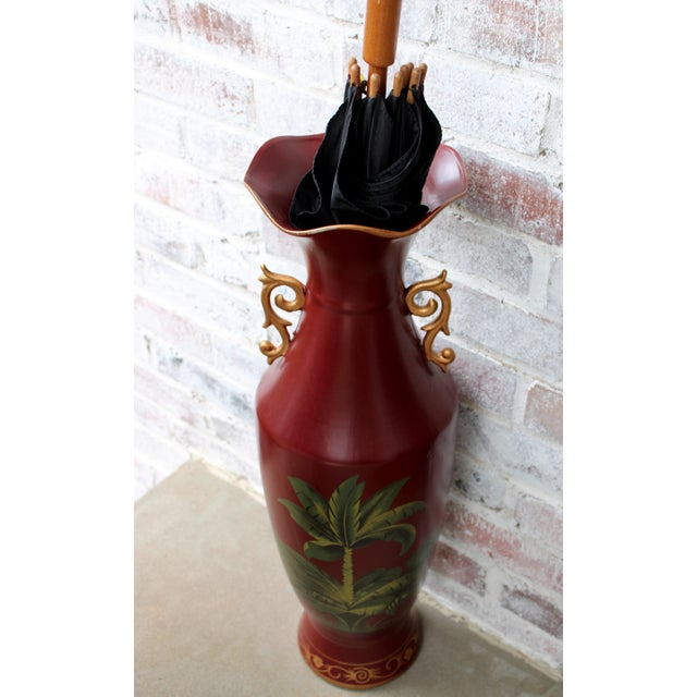 Boho Chic Mid 20th Century Tropical Umbrella Stand or Floor Vase For Sale - Image 3 of 8