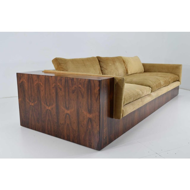 Brown Milo Baughman for Thayer Coggin Rosewood Case Sofa For Sale - Image 8 of 13