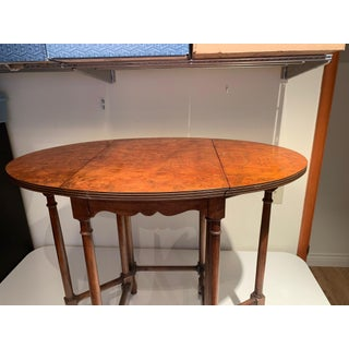 20th Century English Traditional Walnut Drop Leaf End Table Preview