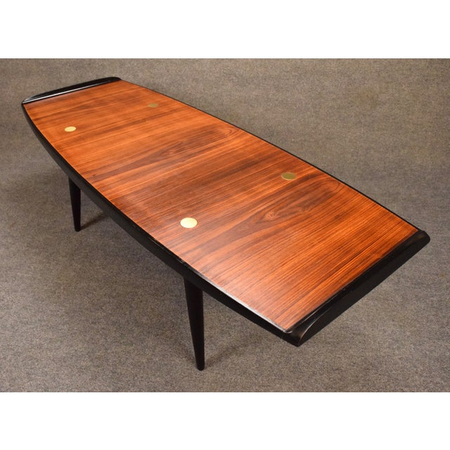 1960s 1960s Danish Modern Rosewood Coffee Table For Sale - Image 5 of 9