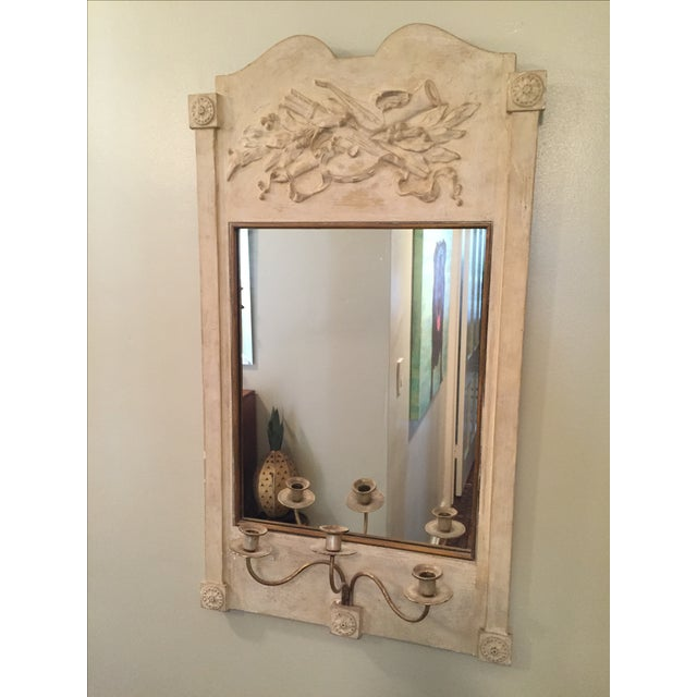 Antique Mirror With Candle Holder - Image 2 of 3