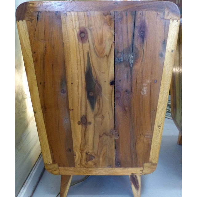 1950's Style Distressed Finish Wood Nightstands -A Pair - Image 10 of 10