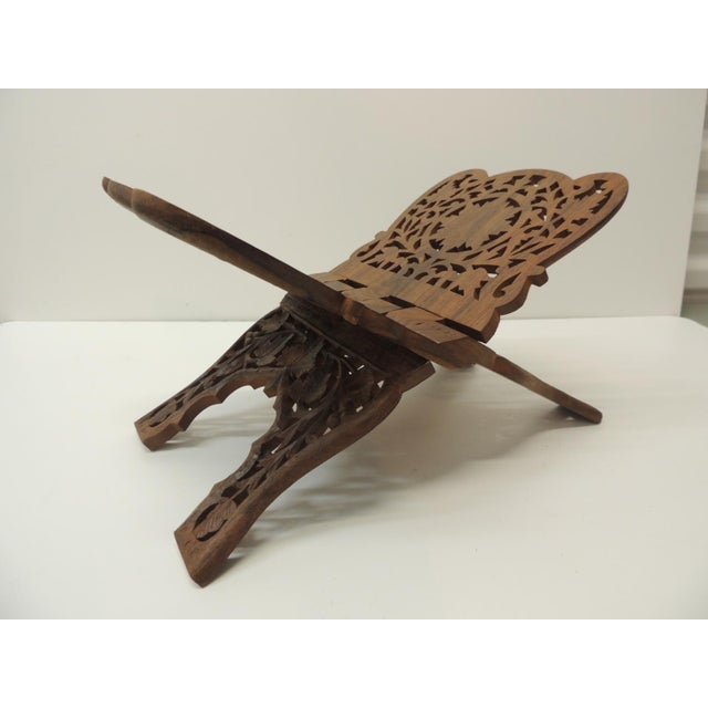 Indian Hand Carved Book Display or Stand For Sale In Miami - Image 6 of 6