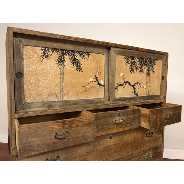 3 Piece Stacking Vintage Japanese Tansu Chest For Sale In Seattle - Image 6 of 13