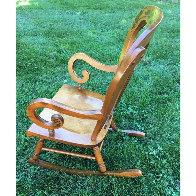 Tell City Balloon Back Rocking Chair - Image 4 of 8