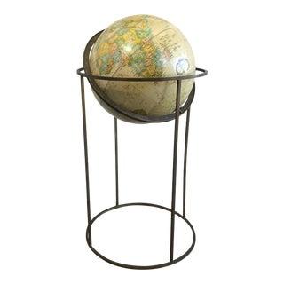 Paul McCobb Bronze Stand Globe