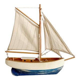 Vintage Wood Sail Boat For Sale