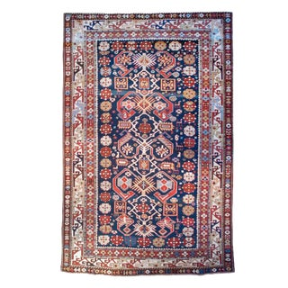 "19th Century Kazak Carpet - 4' x 6'10"" For Sale"