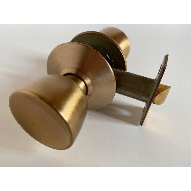 1960s Mid-Century Modern Satin Bronze Skillman Passage Doorset For Sale - Image 4 of 8